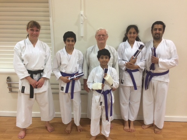 Purple and white grading May 16